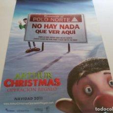 Cine: ARTHUR CHRISTMAS OPERACION REGALO - POSTER ORIGINAL. Lote 194788860