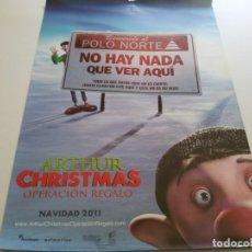 Cine: ARTHUR CHRISTMAS OPERACION REGALO - POSTER ORIGINAL. Lote 194788912