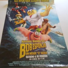 Cine: BOB ESPONJA UN HEROE FUERA DEL AGUA - POSTER ORIGINAL. Lote 194828427