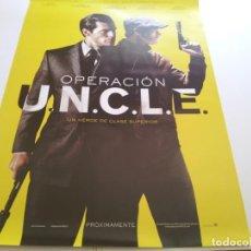 Cine: OPERACION U.N.C.L.E - POSTER ORIGINAL PREVIO. Lote 206876470