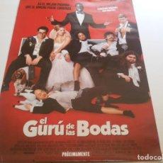 Cine: EL GURU DE LAS BODAS - POSTER ORIGINAL. Lote 194860776