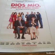 Cine: DIOS MIO PERO QUE TE HEMOS HECHO - POSTER ORIGINAL. Lote 194861347