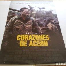 Cine: CORAZONES DE ACERO - POSTER ORIGINAL. Lote 194866633