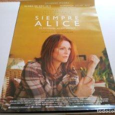 Cine: SIEMPRE ALICE - POSTER ORIGINAL. Lote 194868341