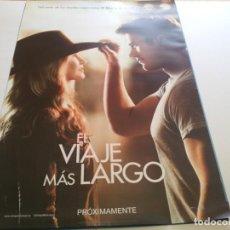 Cine: EL VIAJE MAS LARGO - POSTER ORIGINAL. Lote 194869525