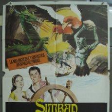 Cine: CDO 305 SIMBAD Y LA PRINCESA RAY HARRYHAUSEN KERWIN MATHEWS POSTER ORIGINAL ESPAÑOL 70X100. Lote 194876255