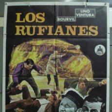 Cine: CDO 308 LOS RUFIANES BOURVIL LINO VENTURA POSTER ORIGINAL 70X100 ESTRENO. Lote 194880820