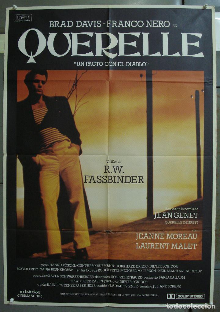 CDO 310 QUERELLE FASSBINDER BRAD DAVIS GAY CULT POSTER ORIGINAL 70X100 ESTRENO (Cine- Posters y Carteles - Drama)