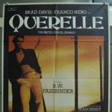Cine: CDO 310 QUERELLE FASSBINDER BRAD DAVIS GAY CULT POSTER ORIGINAL 70X100 ESTRENO. Lote 194882711