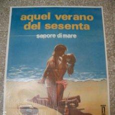 Cine: PÓSTER ORIGINAL DE 100X70CM AQUEL VERANO DEL SESENTA. JERRY CALA, MARINA SUMA, CHRISTIAN DE SICA. Lote 194922877