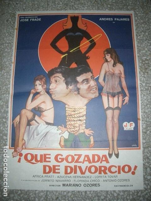 QUE GOZADA DE DIVORCIO (1981) 70X100CM ANDRÉS PAJARES ÁFRICA PRATT JANO (Cine - Posters y Carteles - Clasico Español)
