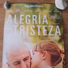 Cine: ALEGRIA TRISTEZA - APROX 70X100 CARTEL ORIGINAL CINE (L73). Lote 194976865