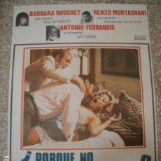 Cine: PÓSTER ORIGINAL DE 100X70CM POR QUE NO HACEMOS EL AMOR? ANTONIO FERRANDIS BARBARA BOUCHET. Lote 194994302