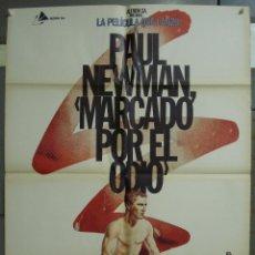 Cine: CDO 318 MARCADO POR EL ODIO PAUL NEWMAN BOXEO ZULUETA POSTER ORIGINAL ESPAÑOL 70X100 R-81. Lote 238713425