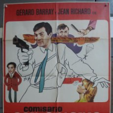 Cine: CDO 319 COMISARIO SAN ANTONIO GERARD BARRAY JEAN RICHARD POSTER ORIGINAL 70X100 ESTRENO. Lote 195074471