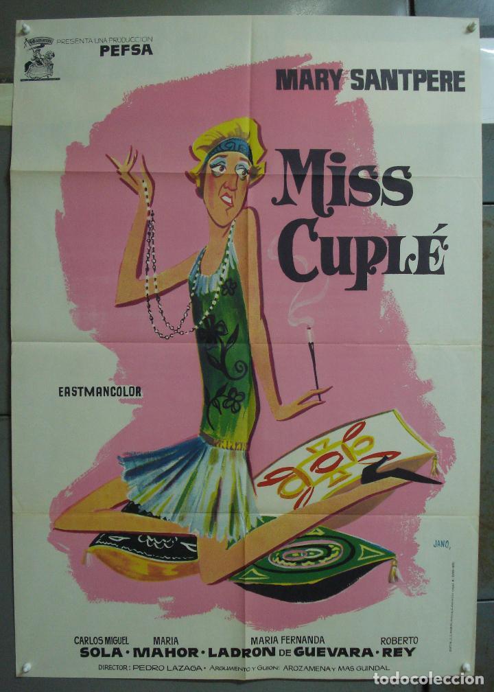 CDO 321 MISS CUPLE MARY SANTPERE JANO POSTER ORIGINAL 70X100 ESPAÑOL R-73 (Cine - Posters y Carteles - Clasico Español)