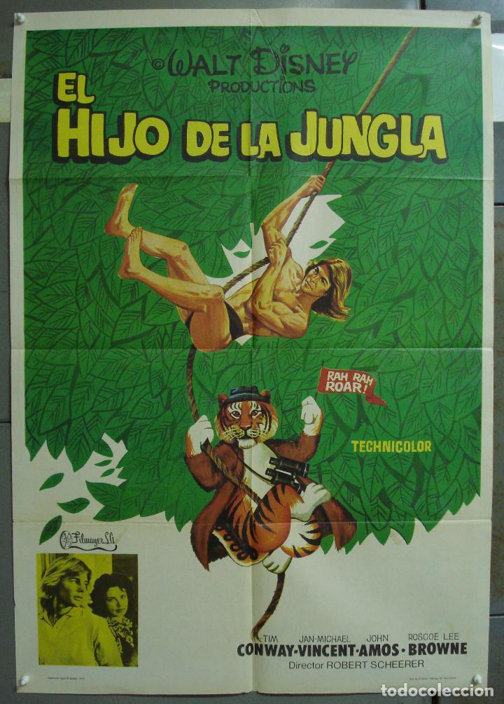 CDO 324 EL HIJO DE LA JUNGLA JAN-MICHAEL VINCENT WALT DISNEY POSTER ORIGINAL 70X100 ESTRENO (Cine - Posters y Carteles - Infantil)
