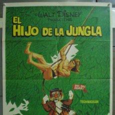 Cine: CDO 324 EL HIJO DE LA JUNGLA JAN-MICHAEL VINCENT WALT DISNEY POSTER ORIGINAL 70X100 ESTRENO. Lote 195079702