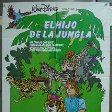 Cine: CDO 325 EL HIJO DE LA JUNGLA JAN-MICHAEL VINCENT WALT DISNEY POSTER ORIGINAL 70X100 ESPAÑOL R-81. Lote 195080051