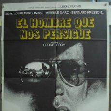 Cine: CDO 339 EL HOMBRE QUE NOS PERSIGUE JEAN-LOUIS TRINTIGNANT POSTER ORIGINAL 70X100 ESTRENO. Lote 195087257