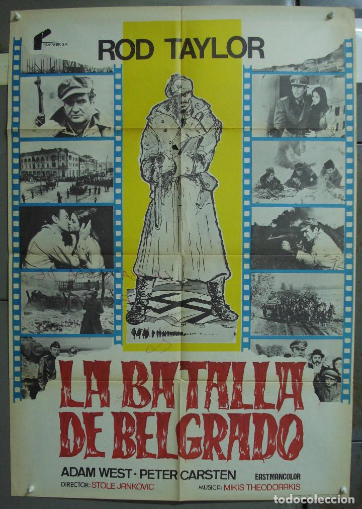 CDO 348 LA BATALLA DE BELGRADO ROD TAYLOR ADAM WEST POSTER ORIGINAL 70X100 ESTRENO (Cine - Posters y Carteles - Bélicas)