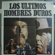 Cine: CDO 350 LOS ULTIMOS HOMBRES DUROS CHARLTON HESTON JAMES COBURN POSTER ORIGINAL 70X100 ESTRENO. Lote 195098188