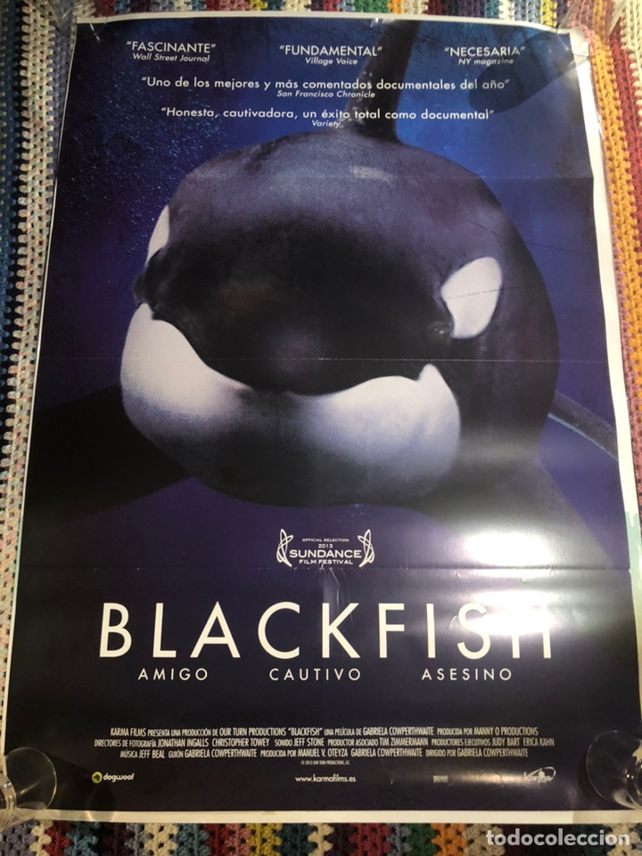 Cine: BLACKFISH DOCUMENTAL POSTER CINE Original 70x100cm - Foto 2 - 195098225