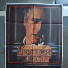 Cine: CDO 356 VEREDICTO FINAL PAUL NEWMAN SIDNEY LUMET POSTER ORIGINAL 70X100 ESTRENO. Lote 195111736