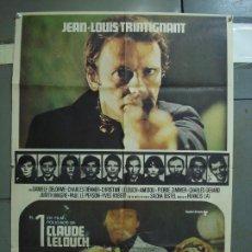 Cine: CDO 363 EL CANALLA CLAUDE LELOUCH JEAN LOUS TRINTIGNANT JR POSTER ORIGINAL 70X100 ESTRENO. Lote 195116661