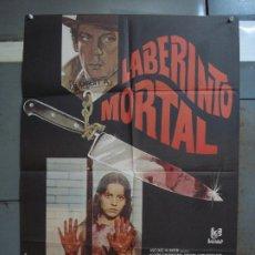 Cine: CDO 365 LABERINTO MORTAL DONALD SUTHERLAND CLAUDE CHABROL POSTER ORIGINAL 70X100 ESTRENO. Lote 195118498