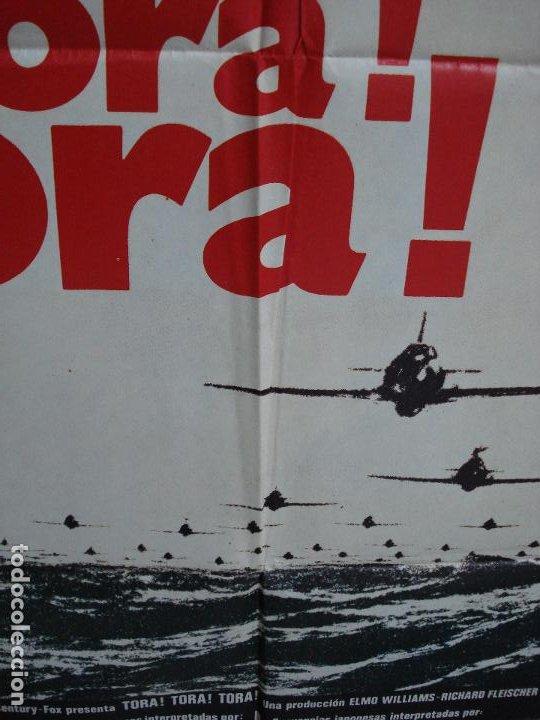 Cine: CDO 366 TORA TORA TORA SEGUNDA GUERRA MUNDIAL POSTER ORIGINAL 70X100 ESPAÑOL R-80 - Foto 7 - 195119036