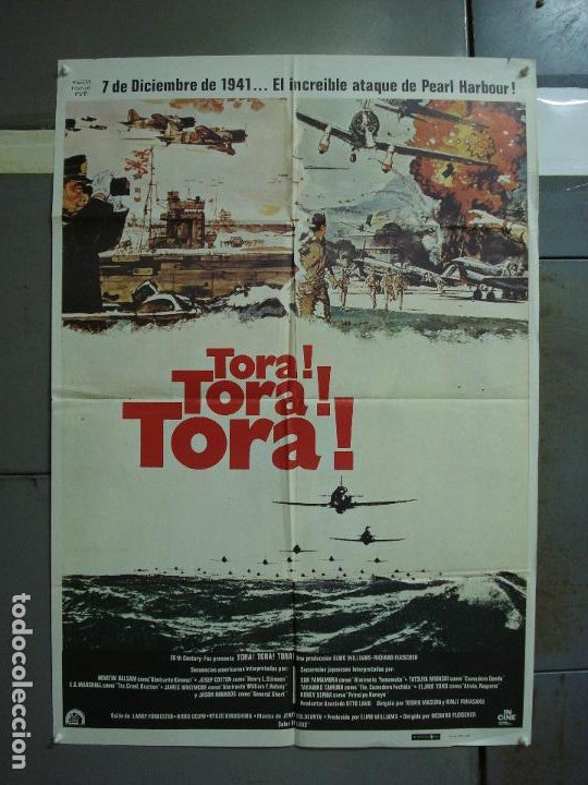 CDO 366 TORA TORA TORA SEGUNDA GUERRA MUNDIAL POSTER ORIGINAL 70X100 ESPAÑOL R-80 (Cine - Posters y Carteles - Bélicas)