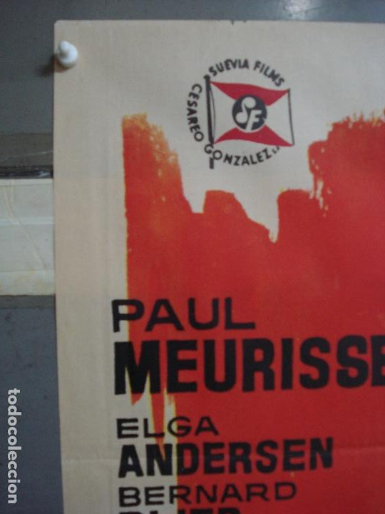 Cine: CDO 374 EL MONOCULO NEGRO PAUL MEURISSE JANO POSTER ORIGINAL 70X100 ESTRENO - Foto 4 - 195126217