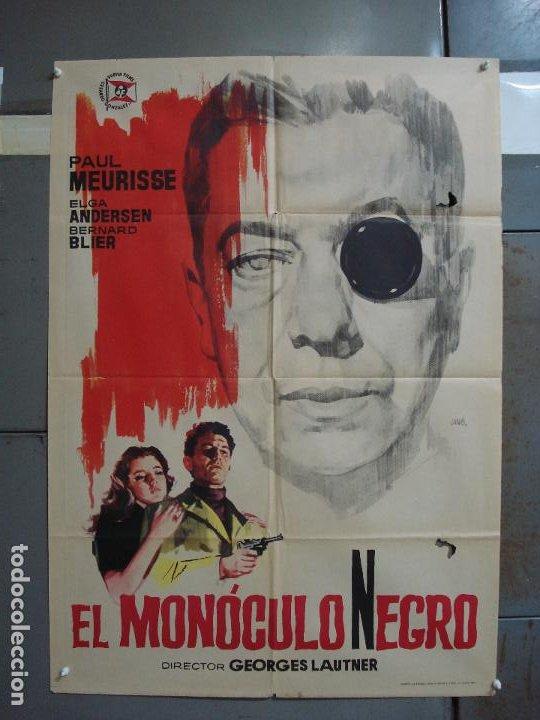 CDO 374 EL MONOCULO NEGRO PAUL MEURISSE JANO POSTER ORIGINAL 70X100 ESTRENO (Cine - Posters y Carteles - Suspense)