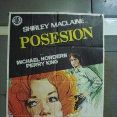 Cine: CDO 376 POSESION SHIRLEY MACLAINE JANO POSTER ORIGINAL 70X100 ESTRENO. Lote 195127538