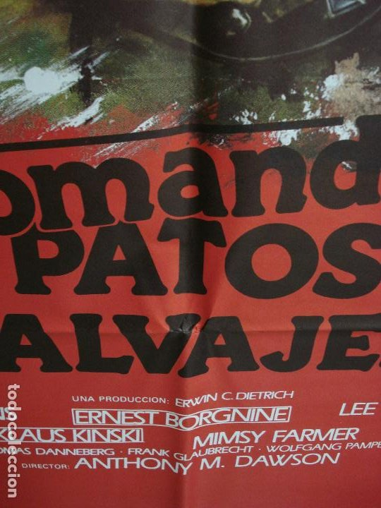 Cine: CDO 378 COMANDO PATOS SALVAJES KLAUS KINSKI LEE VAN CLEEF POSTER ORIGINAL 70X100 ESTRENO - Foto 3 - 195128936
