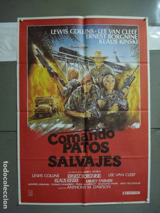 CDO 378 COMANDO PATOS SALVAJES KLAUS KINSKI LEE VAN CLEEF POSTER ORIGINAL 70X100 ESTRENO (Cine - Posters y Carteles - Bélicas)
