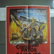 Cine: CDO 378 COMANDO PATOS SALVAJES KLAUS KINSKI LEE VAN CLEEF POSTER ORIGINAL 70X100 ESTRENO. Lote 195128936