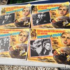 Cine: FOTOGRAMAS CARTEL CINE HOMBRES Y LOBOS MONTAND DE SANTIS 30 X 40 CM. Lote 195131175