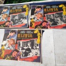 Cine: CARTEL CINE SILVIA 3 FOTOGRAMAS SIMONE FEUILLERE 30 X 40 CM APROX. Lote 195131427