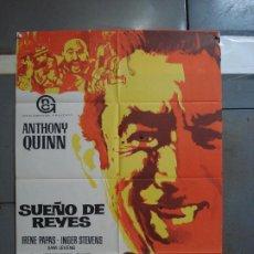 Cine: CDO 384 SUEÑO DE REYES ANTHONY QUINN IRENE PAPAS POSTER ORIGINAL 70X100 ESTRENO. Lote 195132662