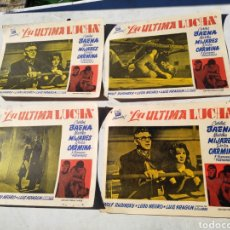 Cine: LA ULTIMA LUCHA 4 FOTOGRAMAS CINE BAENA MIJARES CUBA HABANA. Lote 195134497