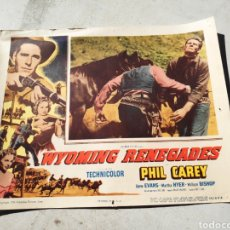 Cine: PHIL CAREY WYOMINGS REMEGADE CARTEL CINE FOTOGRAMA HABANA CUBA. Lote 195135057