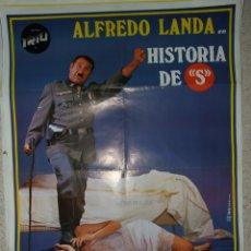 Cine: CARTEL ORIGINAL DE CINE - HISTORIA DE S 100X70CM BUEN ESTADO. Lote 195182440