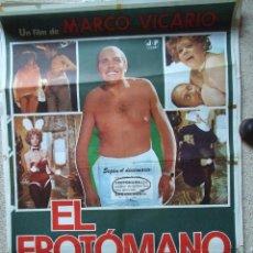 Cine: CARTEL ORIGINAL DE CINE - EL EROTOMANO 100X70CM BUEN ESTADO. Lote 195182771