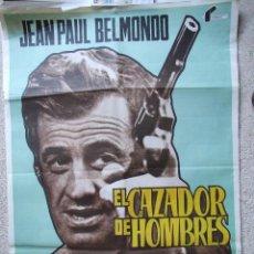 Cine: CARTEL ORIGINAL DE CINE - EL CAZADOR DE HOMBRES 100X70CM BUEN ESTADO. Lote 195183256