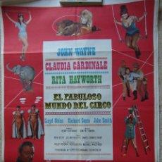 Cine: CARTEL ORIGINAL DE CINE - EL FABULOSO MUNDO DEL CIRCO 100X70CM BUEN ESTADO. Lote 195183543