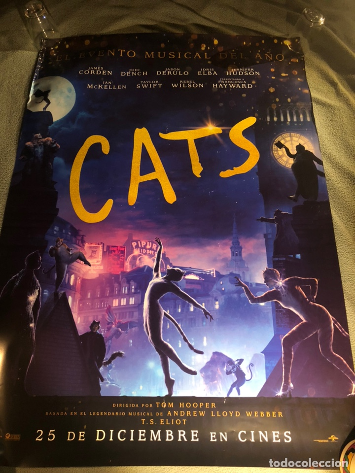 2 POSTERS DIFERENTES MUSICAL CATS CINE 70X100CM (Cine - Posters y Carteles - Musicales)