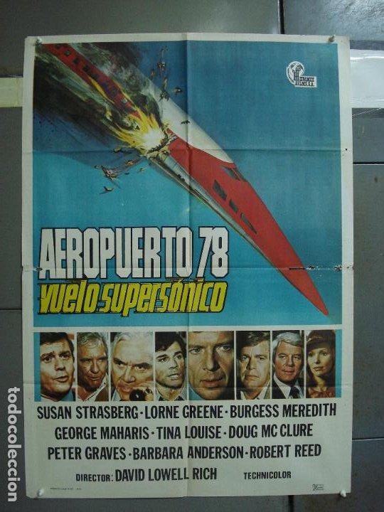CDO 386 AEROPUERTO 78 VUELO SUPERSONICO SUSAN STRASBERG LORNE GREENE POSTER ORIGINAL 70X100 ESTRENO (Cine - Posters y Carteles - Suspense)