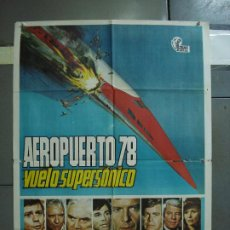 Cine: CDO 386 AEROPUERTO 78 VUELO SUPERSONICO SUSAN STRASBERG LORNE GREENE POSTER ORIGINAL 70X100 ESTRENO. Lote 195185312